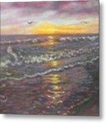Miller Ocean Sunset Metal Print