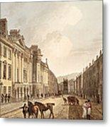 Milsom Street, From Bath Illustrated Metal Print