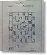 Milton Bradley Life Game Patent Metal Print