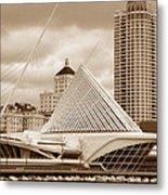 Milwaukee Art Museum In Winter Metal Print