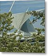 Milwaukee Art Museum Through Flowered Trees Metal Print