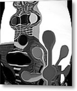 Milwaukee In Abstract Metal Print