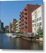 Milwaukee River Architechture 1 Metal Print