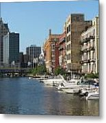 Milwaukee River Architecture 2 Metal Print