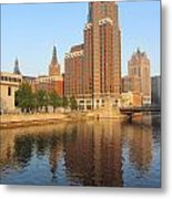 Milwaukee River Theater District 4 Metal Print