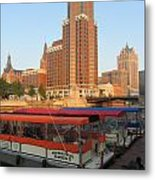 Milwaukee River Theater District 5 Metal Print