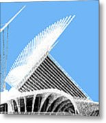 Milwaukee Skyline Art Museum - Light Blue Metal Print by DB Artist