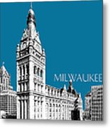 Milwaukee Skyline City Hall - Steel Metal Print