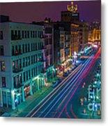 Milwaukee's Evening Active Glow Metal Print