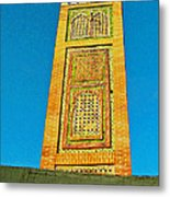 Minaret For Call To Prayer In Tangiers-morocco Metal Print