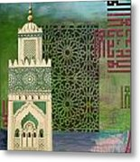 Minaret Of Hassan 2 Mosque Metal Print