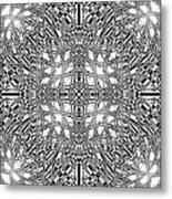 B W Sq 9 Metal Print