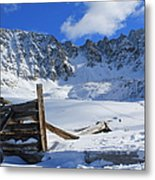 Mine Relics In The Snow Metal Print