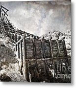 Mine Structure In Silver City Metal Print