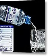Mineral Water And Its Mineral Content Metal Print