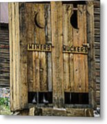 Miners And Muckers Outhouse Metal Print