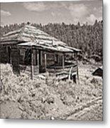 Miner's Shack - Comet Ghost Mine - Montana Metal Print