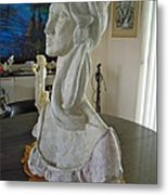 Minerva Profile Sculpture Metal Print