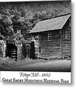 Mingus Mill -- Black And White Poster Metal Print