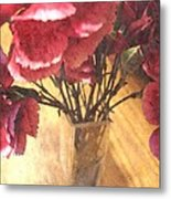 Mini Carnation Bouquet Metal Print