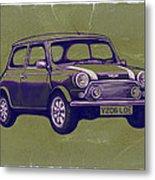 Mini Cooper - Car Art Sketch Poster Metal Print
