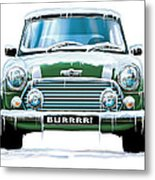 Mini Cooper On Ice Metal Print