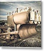 Mini Excavator Mailbox Metal Print