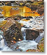 Mini Waterfall In The Porkies Metal Print