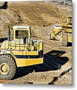 Miniature Construction Site Metal Print