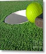 Miniature Golf Metal Print by Olivier Le Queinec