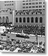 Miniature La City Hall Parade Metal Print