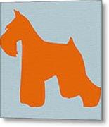 Miniature Schnauzer Orange Metal Print