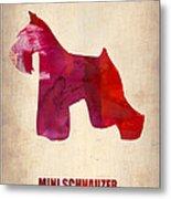 Miniature Schnauzer Poster Metal Print
