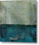 Minima - S02b Turquoise Metal Print