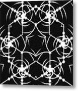 Minimal Life Vortex Metal Print