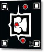 Minimalism Abstract Geometric Black White Red Art No.390. Metal Print by Drinka Mercep