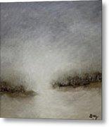 Minimalist Abstract Landscape Original Painting Metal Print