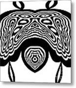 Minimalist Art Black White Abstract No.331. Metal Print