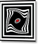 Minimalist Art Black White Red No.17 Metal Print by Drinka Mercep