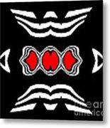 Minimalism Black White Red Art No.174. Metal Print