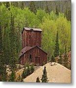 Mining Building In Colorado Metal Print