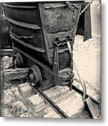 Mining Ore Cart Metal Print