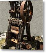 Mining Portable Stamp Mill Metal Print by Daniel Hagerman