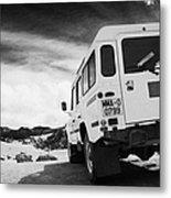 Ministerio De Medio Ambiente Land Rover At Teide National Park Tenerife Canary Islands Spain Metal Print