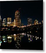 Minneapolis Night Skyline Metal Print