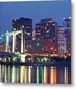 Minneapolis Skyline At Night Metal Print