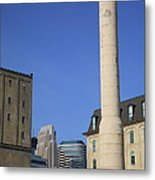 Minneapolis Smokestack Metal Print