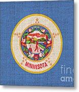 Minnesota State Flag Metal Print by Pixel Chimp