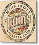 Minnesota Twins Logo Vintage Metal Print