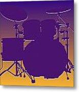 Minnesota Vikings Drum Set Metal Print